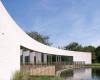 房产信息:贝尔菲利普斯在伦敦公园建造弯曲的白砖亭子